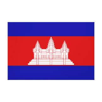 Cambodia – Cambodian Flag Stretched Canvas Prints
