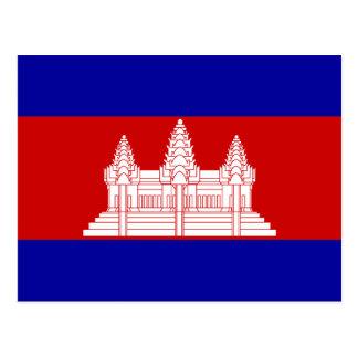 Cambodia – Cambodian Flag Postcard