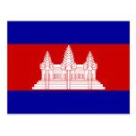 Cambodia – Cambodian Flag Postcards