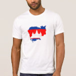 cambodia country flag map shape silhouette symbol T-Shirt