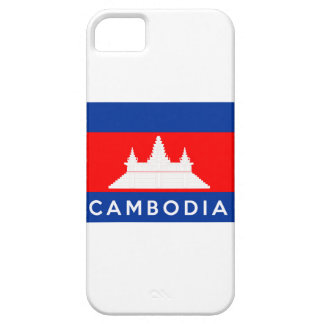 cambodia country flag symbol name text iPhone 5 case