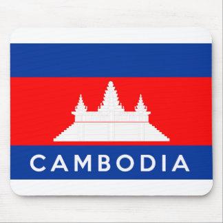 cambodia country flag symbol name text mousepad