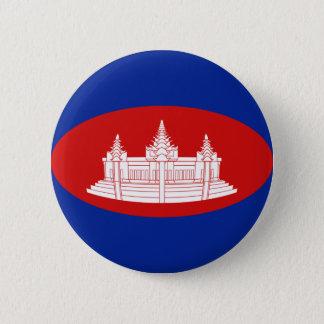Cambodia Fisheye Flag Button