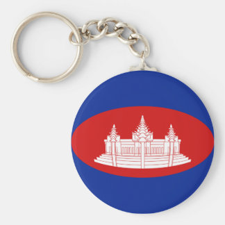 Cambodia Fisheye Flag Keychain