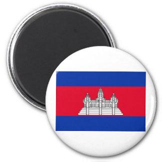 Cambodia Flag 2 Inch Round Magnet