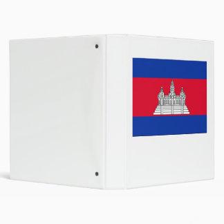 Cambodia Flag 3 Ring Binder