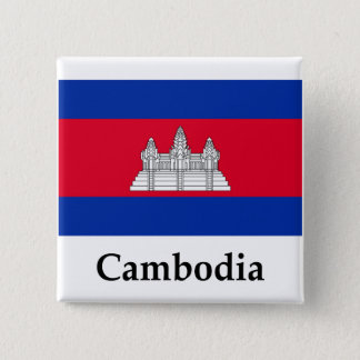 Cambodia Flag And Name Pinback Button