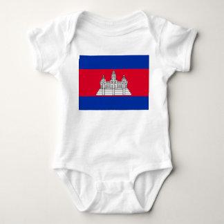 Cambodia Flag Baby Bodysuit
