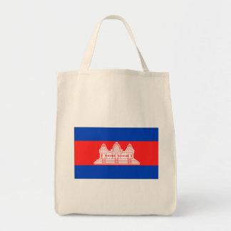 Cambodia Flag Canvas Bag