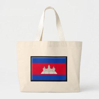 Cambodia Flag Canvas Bags