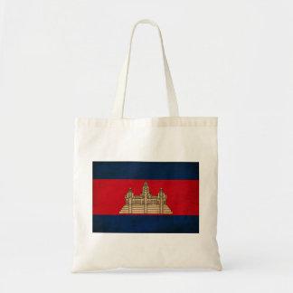 Cambodia Flag Tote Bags