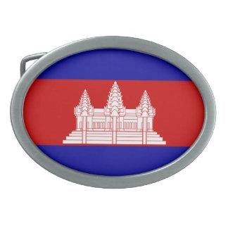 Cambodia Flag Belt Buckle