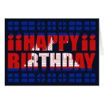 Cambodia Flag Birthday Card
