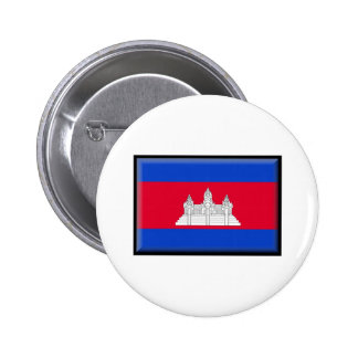 Cambodia Flag Pinback Buttons