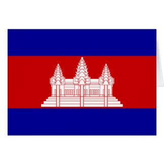 Cambodia Flag; Cambodian Card