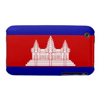 Cambodia Flag; Cambodian Case-Mate iPhone 3 Cases