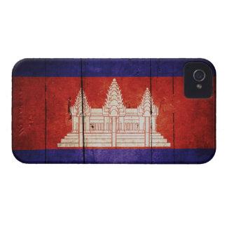 Cambodia Flag; Cambodian; Khmer iPhone 4 Cases