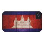 Cambodia Flag; Cambodian; Khmer iPhone 4 Case