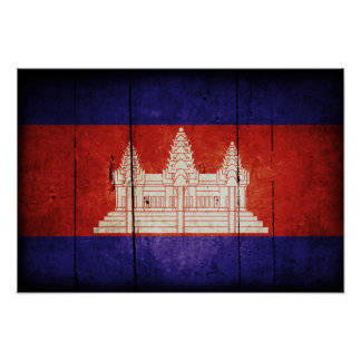 Cambodia Flag; Cambodian; Khmer Posters