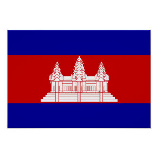 Cambodia Flag; Cambodian Poster