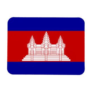 Cambodia Flag; Cambodian Rectangular Magnet