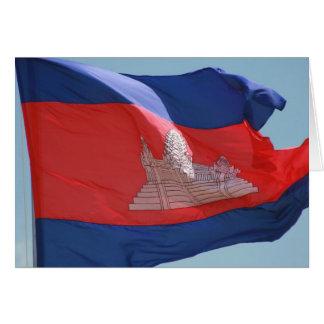 cambodia flag card
