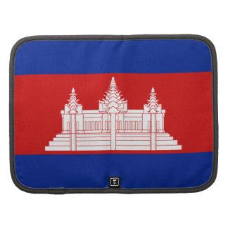 Cambodia Flag Folio Organizer