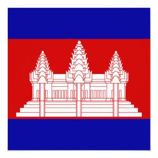 Cambodia Flag Invitation