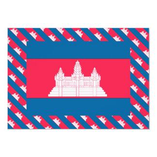 Cambodia Flag 5x7 Paper Invitation Card