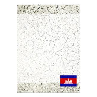 "Cambodia Flag 5"" X 7"" Invitation Card"
