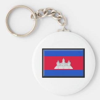 Cambodia Flag Keychains