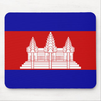 Cambodia Flag KH Mouse Pad