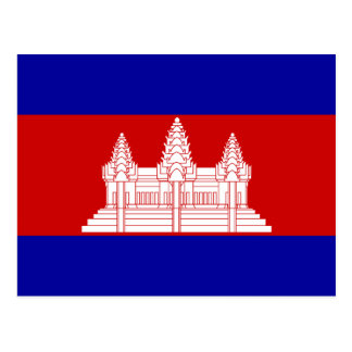 Cambodia Flag KH Postcard