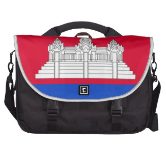 Cambodia Flag Laptop Bag