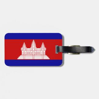 Cambodia Flag Luggage Tags
