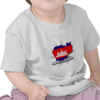Cambodia Flag Map 2 0 T-shirts