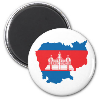 Cambodia Flag Map full size Refrigerator Magnets