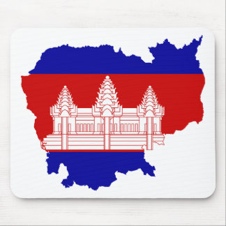 Cambodia Flag map KH Mousemats