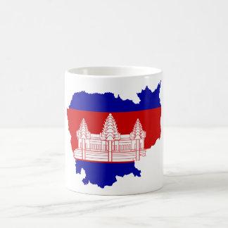 Cambodia Flag map KH Coffee Mug