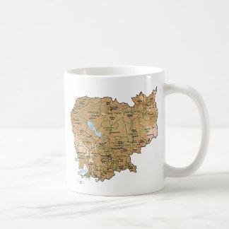 Cambodia Flag Map Mug