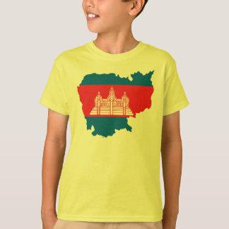 Cambodia flag map T-Shirt