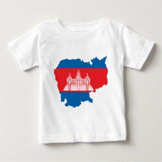 Cambodia flag map tee shirt