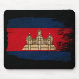 Cambodia Flag Mouse Pad