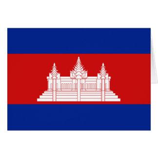 Cambodia Flag Notecard