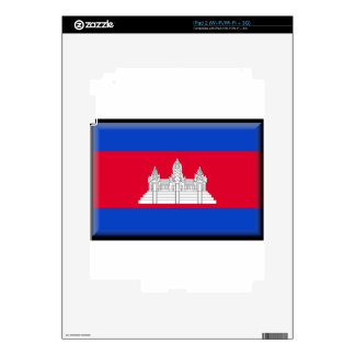 Cambodia Flag iPad 2 Skin