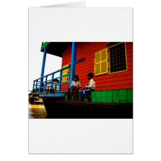 Cambodia floating village cards