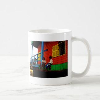 Cambodia floating village coffee mug