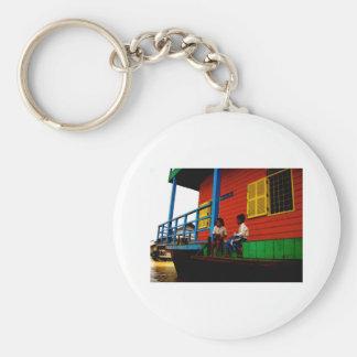 Cambodia floating village keychain