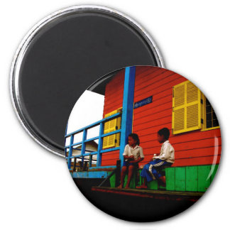 Cambodia floating village magnets
