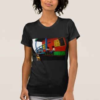 Cambodia floating village tshirt